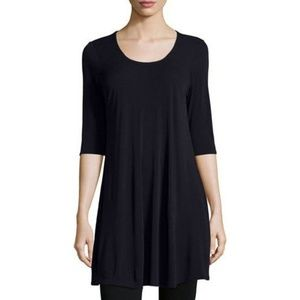 Eileen Fisher | Silk Half-Sleeve Jersery Tunic XS